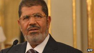 Egypt's President Mohammed Mursi (14 Sept 2012)