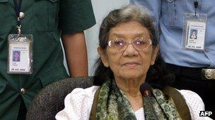 Ieng Thirith in court