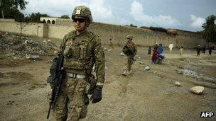 US-led forces in Afghanistan (file)