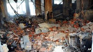 Fire damage at the American school in Tunis, Tunisia (15 Sept 2012)