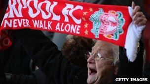 Image from Hillsborough Memorial Held At Anfield in 2009