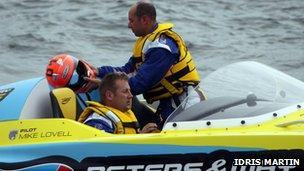 Powerboat crash pair