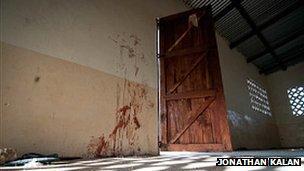 Small women's prayer room of the Kilelengwani mosque, where attackers broke in, killing five women and two children