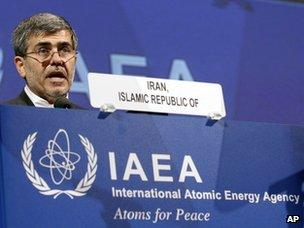 Fereydun Abbasi-Davani addresses the IAEA's general conference in Vienna (17 September 2012)