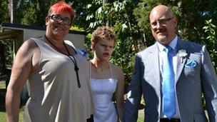 Julie, Niamh and Adrian Scott