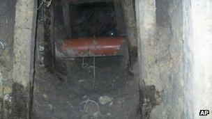 The tunnel under the prison facility in Piedras Negras
