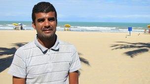 Shark attack survivor Charles Heitor Barroso Pires