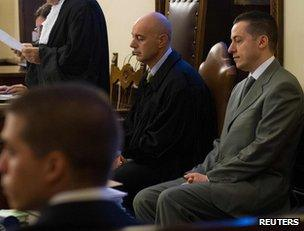 Paolo Gabriele (right) in court at the Vatican, 29 September
