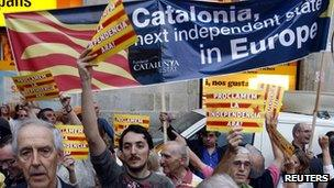 Catalonia independence campaigners