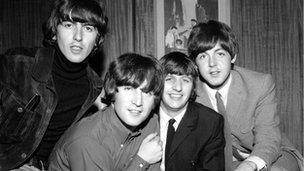 The four Beatles in 1965