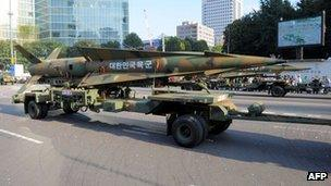 South Korean ground-to-ground missile - October 2008