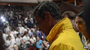 Henrique Capriles with supporters. 8 Oct 2012