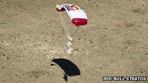 On a parachute