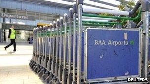 Luggage trolleys at Heathrow
