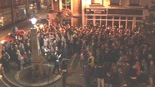 Lap-dancing club protest in Ampthill