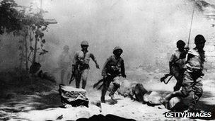 Japanes troops attack, 1939