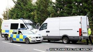 Van stopped by police