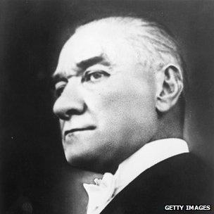 Kemal Ataturk, Turkey's first president, in 1930