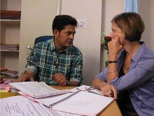Dr Arnand Rai with Sue Lloyd Roberts