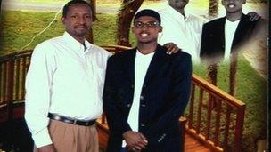 Mahdi Hashi with his father Mohamed