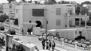 Villa in Tunis where Abu Jihad was killed. 1988