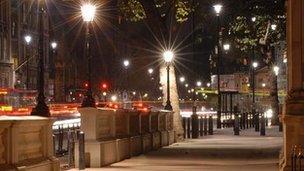 Street lighting in Westminster