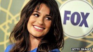 Actress Lea Michele, star of Fox show Glee