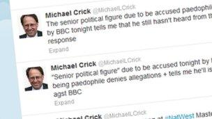 Michael Crick tweets