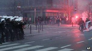 Clashes during a march to mark Poland's Independence Day in Warsaw