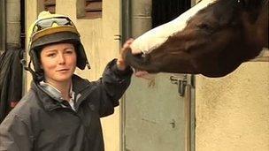 Jockey Rebecca Smith with 'Rummy'