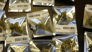 Medical marijuana is packaged for sale at the Northwest Patient Resource Center medical marijuana dispensary in Seattle.