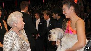 The Queen met Ashleigh and her dog Pudsey