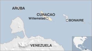 Map of Curacao
