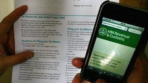 HMRC taxation forms