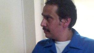 Mohammed al-Ajami photographed in prison