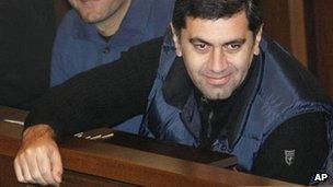 Irakli Okruashvili in court in Tbilisi, 5 December