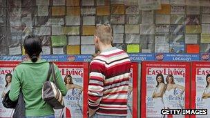 Polish adverts in a shop window