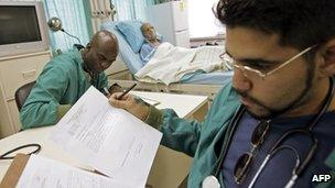 Cuban doctors working as part of the Barrio Adentro programme in 2006
