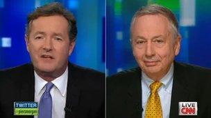 Piers Morgan interviews Larry Pratt on his CNN talk show