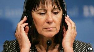 Former Argentine Finance Minister Felisa Miceli