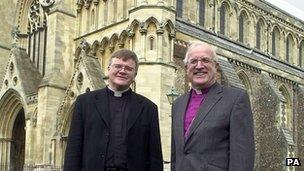 Dr Jeffrey John (L) with Bishop of St Albans