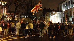 Loyalist protestors