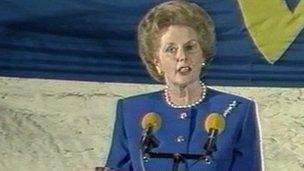 Margaret Thatcher addresses College of Europe