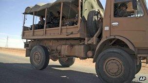 Army truck near In Amenas - 20 January
