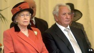 The Queen and Michael Winner