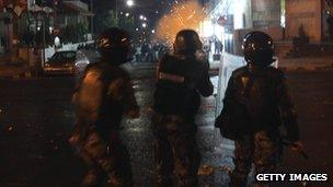 Riot police at protests in Nov 2012