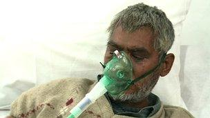 Cough syrup patient in hospital