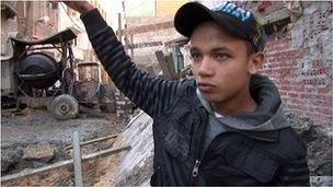 Mohammed, who lost his family in building collapse