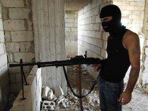 Gunman in Tripoli