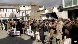 Funeral ceremony for polio worker in Kurram tribal region - 31 January